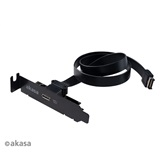 Akasa Low Profile PCI Bracket Cablewith USB 3.1 Gen 2 Type-C