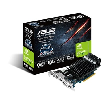 Asus PCIe NVIDIA GT 730 1GB DDR3 - GT730-SL-1GD3-BRK